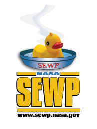 SEWP Badge with yellow duck in a bowl of water