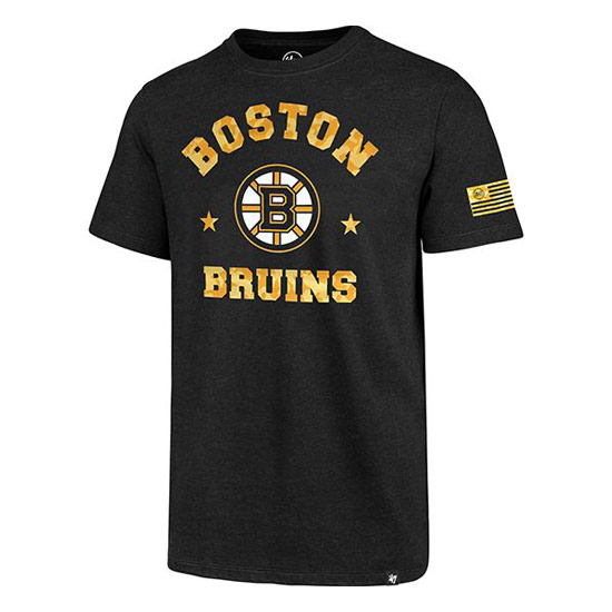 Bruins '47 OHT Red River Club Tee with Bruins logo on front with gold type