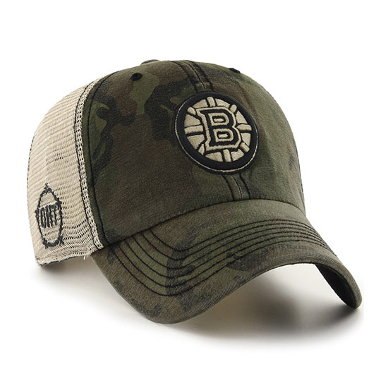 Bruins '47 OHT Sector Cap with with camouflage front and Bruins logo and OHT logo on side