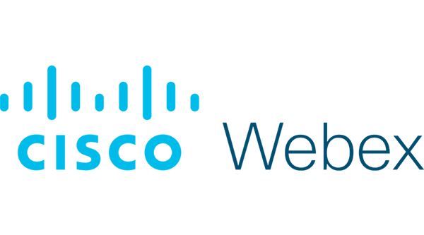Cisco Webex Logo - Cyan blue sans-serif text and dark blue sans-serif text to right