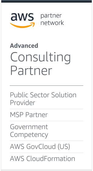 AWS Advanced Consulting Partner Logo - Gray sans-serif type