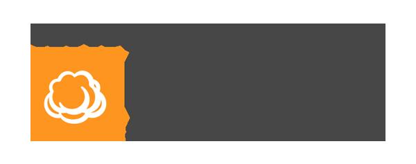 CloudBerry Logo - Dark gray sans-serif type with orange square and white cloud icon inside