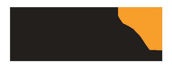 Druva Logo - Black sans-serif type with orange four-pointed icon in upper right