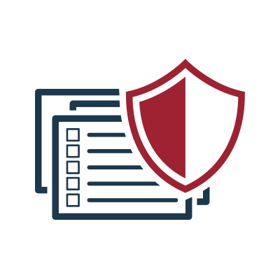 K 12 Cyber Protection Bundle Icon - Red shield over data